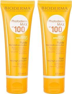 مجموعة سائل الحماية من الشمس فوتودرم ماكس 100 من بايودرما، قطعتين، 40 مل