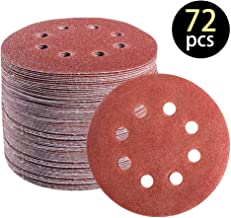 M-jump 100 Pcs 5-Inch 8-Hole 120 Grit Dustless Hook-and-Loop Sanding Disc Sander Round Sandpaper For Woodworking or Automotive 120 Grits