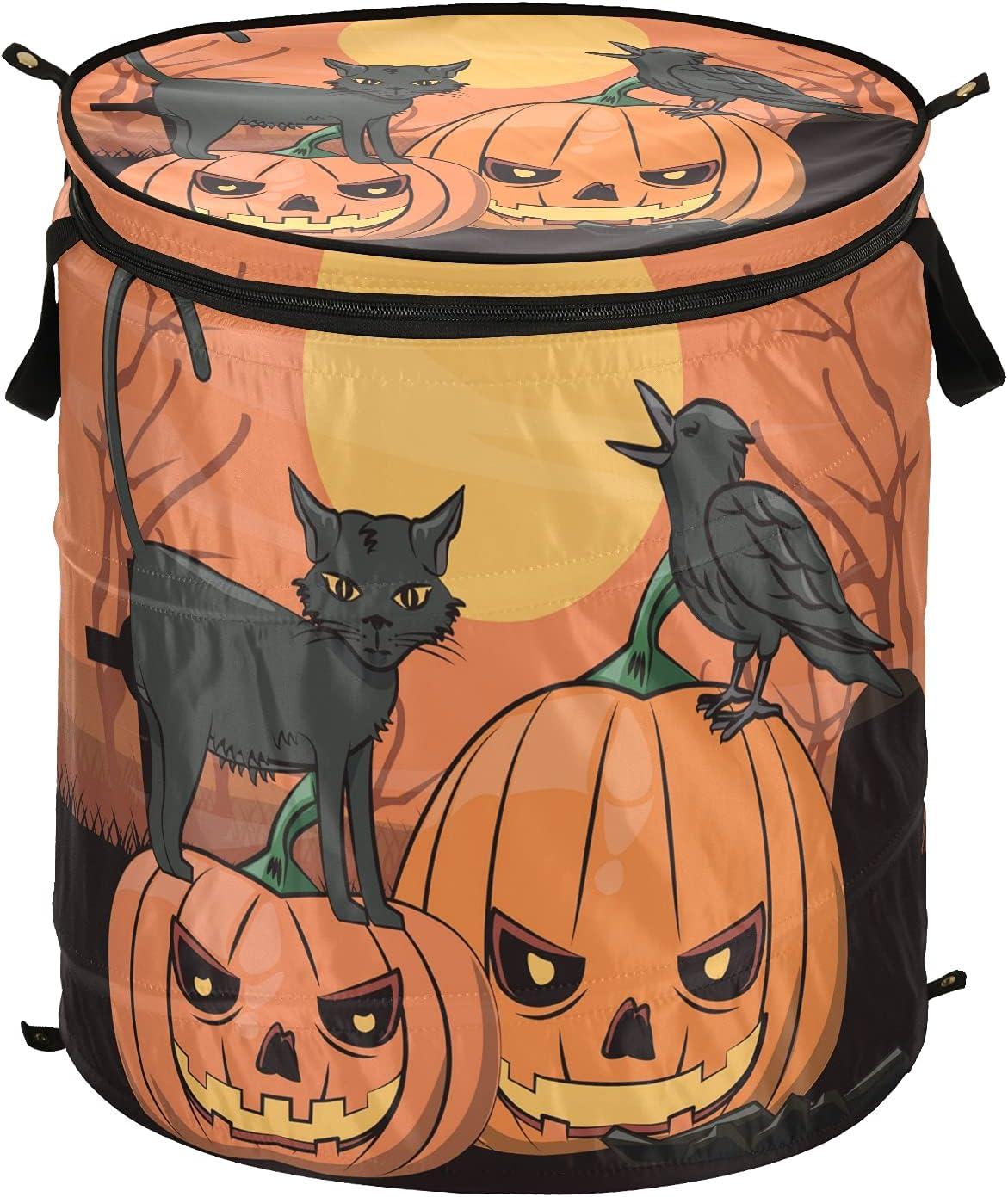 Halloween Black Mail order Cat Branded goods Jack Lantern Pumpkin Up Pop Laundry Hamper w