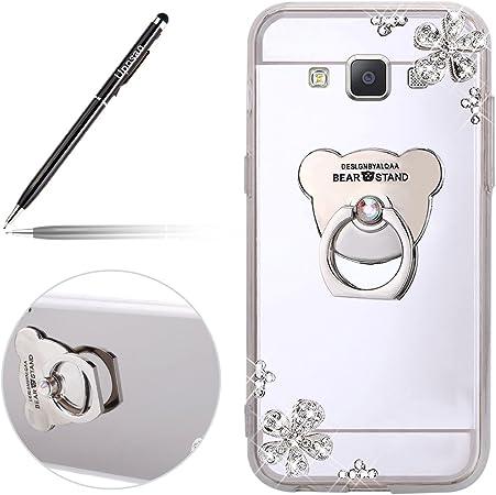 Miroir Coque Samsung Galaxy A5 2015 Paillette Coque en Silicone TPU Étui Housse Bling Glitter Briller Diamant Effet Miroir Clear View Our Bague ...
