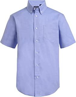 Chaps Boys' Big Short Sleeve Oxford Button-Down Dress Shirt