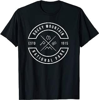Rocky Mountain National Park T Shirt Colorado Emblem CO