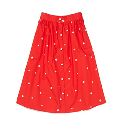ban.do Daisies Easy Button-Up Skirt (Red) Women
