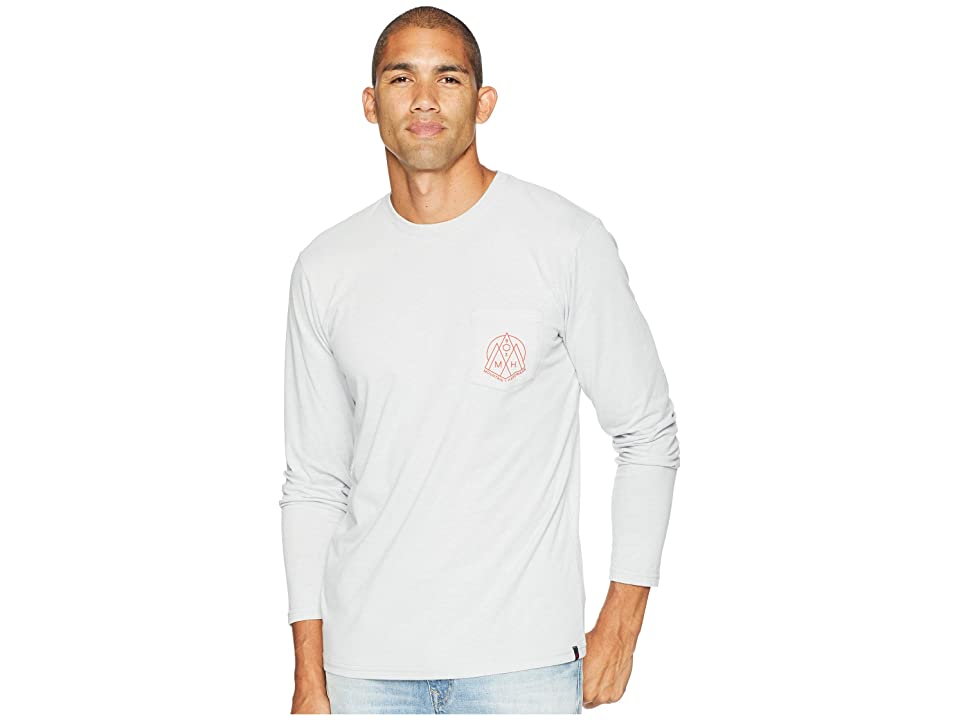 Mountain Hardwear 3 Peakstm Long Sleeve Pocket Tee (Heather Grey Ice) Men