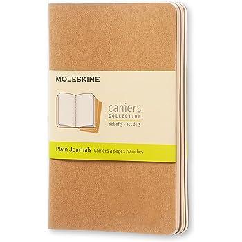 "Moleskine Cahier Journal, Soft Cover, Pocket (3.5"" x 5.5"") Plain/Blank, Kraft Brown, 64 Pages (Set of 3)"