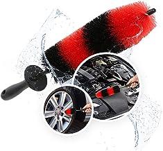"Wheel and Rim Detail Brush - Flexible | Wider Bristles | Easy Reach Tire and Rim Detailing Brush 18"" Long for Wheels, Rims..."