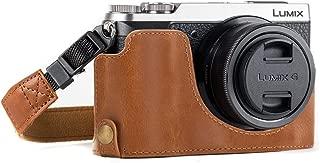 MegaGear Ever Ready Leather Camera Half Case Compatible with Panasonic Lumix DMC-GX85, GX80 - Light Brown