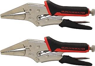 Monster&Master 9 Long-nose Locking Plier Set, 2-Piece, MM-HIP-002x2,