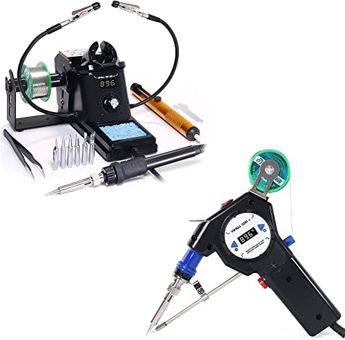 high quality YIHUA 926 III Digital Soldering Iron Station (black) high quality bundle with The 929D-II Auto-feed Soldering System online and Accessories (16 Items) online