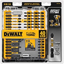 DEWALT Screwdriver Bit Set, Impact Ready, FlexTorq, 40-Piece (DWA2T40IR),Black/Silver IMPACT READY FlexTorq Screw Driving ...