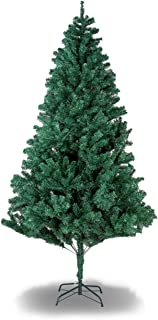 YOUNIS Unlit 6ft Premium Spruce Full Hinged Artificial Christmas Tree, Holiday Xmas Tree Easy Assembly with Solid Metal Stand, 850 Tips