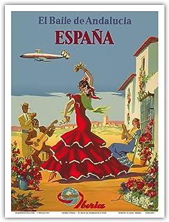 Espa (Spain) - El Baile de Andalucia (The Dance of Andalusia) - Iberia Air Lines of Spain - Flamenco Dancers - Vintage Ai...