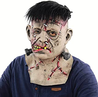 قناع رقبة كامل الرأس من اللاتكس من غولسكي، قناع مخيف مخيف للهالويين والحفلات التنكرية