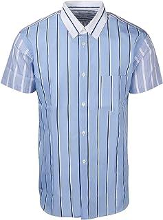 COMME DES GARÇONS SHIRT Luxury Fashion Mens S280781STRIPEMIX Light Blue Shirt | Spring Summer 20