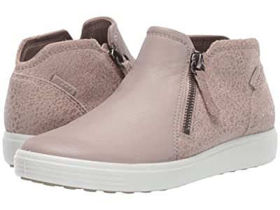 ECCO Soft 7 Low Cut Zip Bootie (Grey Rose/Grey Rose) Women