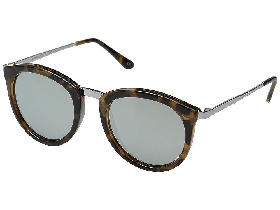 Le Specs No Smirking (Tort/Silver Revo Mirror) Fashion Sunglasses