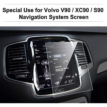Lfotpp Volvo S90 V90 Xc90 8 7 Zoll Navigation Schutzfolie 9h Kratzfest Anti Fingerprint Panzerglas Displayschutzfolie Gps Navi Folie Auto