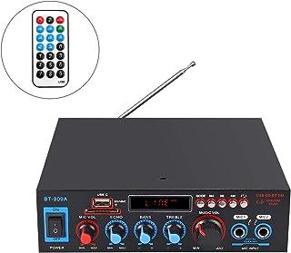 Amplificador de Audio Estéreo Bluetooth 800W Amplificador de Audio HiFi Digital Función Radio FM Tarjeta TF SD Dos Microfo...