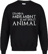 Unisex Slogan Sweater Jumper Lyanna Mormont is My Spirit Animal Black