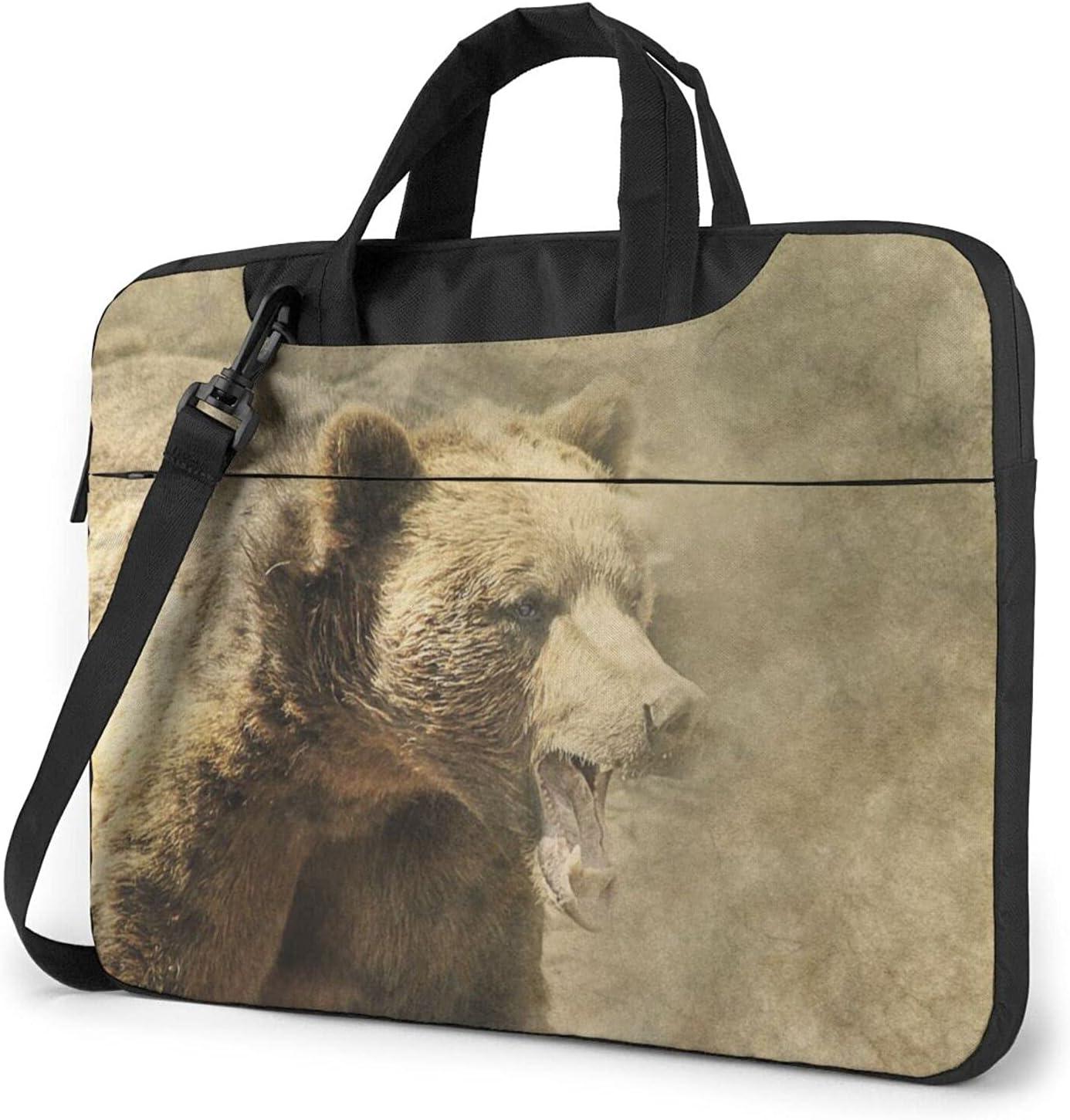 Wild Grizzly Bear Classic Slim Cheap bargain Finally popular brand Shoulder Bag Briefcase Crossbody