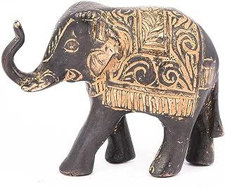 Indianshelf Handmade Brass Elephant with Red Patina Statues Decoration Designer Vintage Statement Pieces Online New