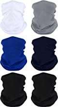 Boao 6 Pieces Unisex Magic Headband Multifunctional Elastic Head Wrap Seamless Neck Gaiter for Running Cycling Outdoor Activities (Color Set 1)