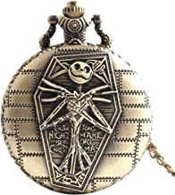 CY-Buity Cristoferv Pocket Watch Skull Head Cool Unique Vintage Antique Pendant Round Shape Tools*1