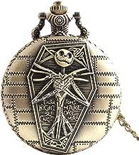 joyliveCY-Reloj de bolsillo de calavera Cool Unique Vintage envejecido colgante Compatible Conma redonda herramientas