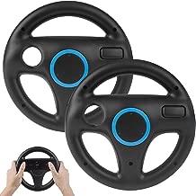 2Pack Mario Kart Wii Steering Wheels, TechKen Mario Kart Racing Wheel for Nintendo Wii, Mario Kart, Tank, More Wii or Wii U Racing Games