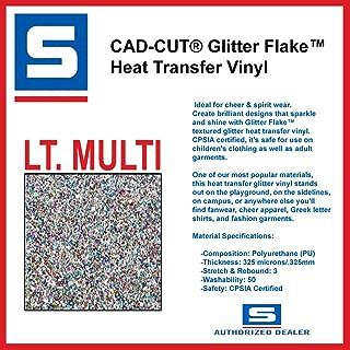 Stahls' HTV Cad Cut LT Multi Glitter Flake Heat Transfer Vinyl 9.5
