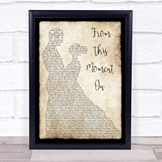 from This Moment On Song Lyric Man Lady Dancing Quote Print