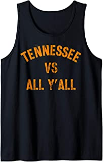 Tennessee Football VS All Yall T-shirt Knoxville Tank Top