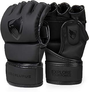 Liberlupus MMA Gloves for Men & Women, Kickboxing Gloves with Open Palms, Boxing Gloves for Punching Bag, Sparring, Muay T...