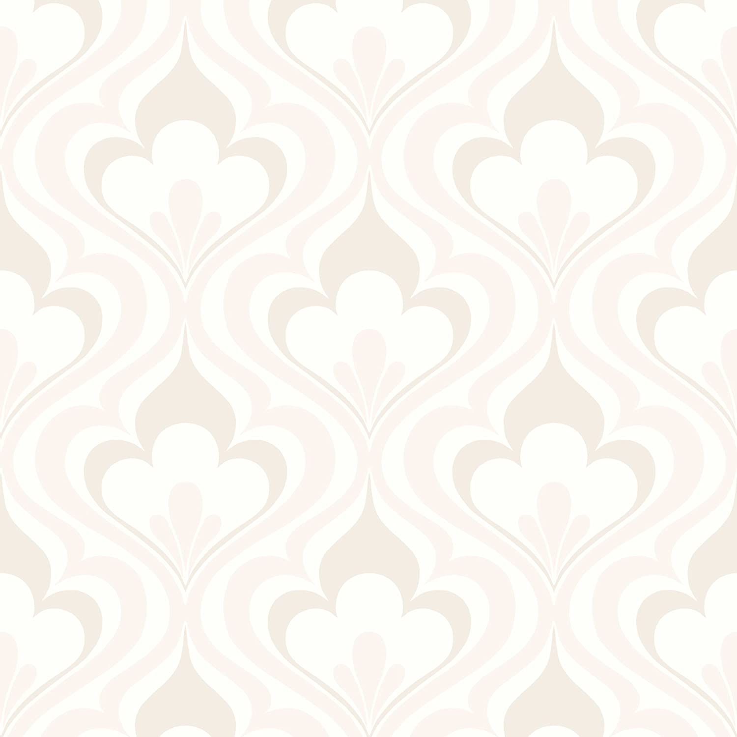 Beacon House 2535-20603 Lola Wallpaper Bargello Ogee Beige Don't El Paso Mall miss the campaign