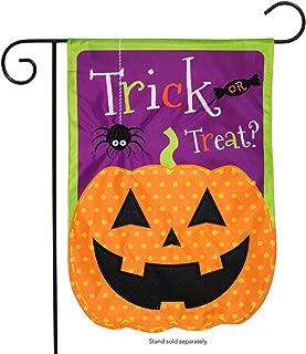 Briarwood Lane Jack O Lantern Halloween Applique Garden Flag Holiday 12.5