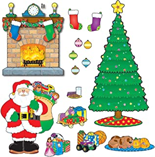 Carson-Dellosa CD-110062 Christmas Scene Bulletin Board Set, 59 Pieces