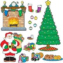 Carson-Dellosa CD-110062 Christmas Scene Bulletin Board Set, 59 Pieces