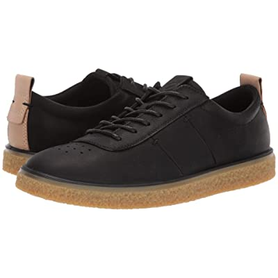 ECCO Crepetray Lace-Up (Black Nubuck Leather) Women
