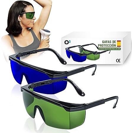 O Gafas Laser Depilación 2 Unidades Gafas De Protección Para Depilación Hpl Ipl Luz Pulsada Gafas De Seguridad Para Protección De Ojo 1 De Color Verde 1 Azul Amazon Es Industria Empresas Y Ciencia