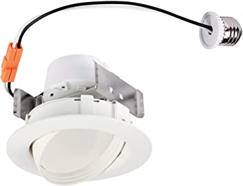 Trim Westinghouse Lighting 5092000 65-Watt Equivalent 6-Inch Direct Wire Recessed LED Downlight Dimmable Cool White Energy Star Light Bulb