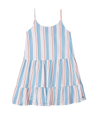 Roxy Kids Folk Song Dress (Little Kids/Big Kids) (Snow White Omega Stripe) Girl