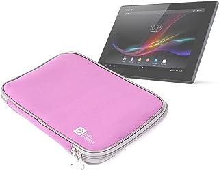 d52d5866589 DURAGADGET Funda De Neopreno Rosa De Viaje Con Cremallera Para El Tablet Sony  Xperia Z