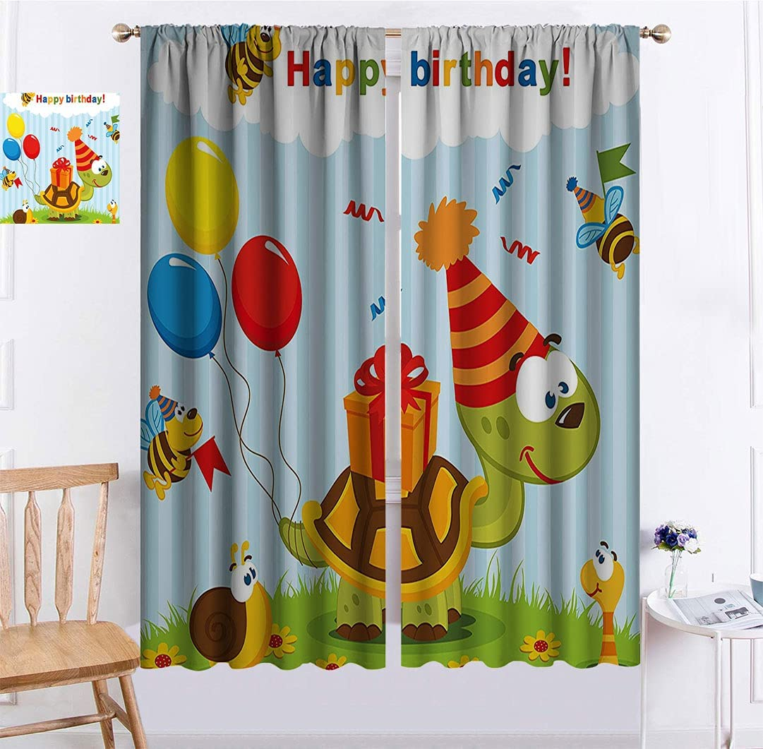 Birthday Decor for Kids store Bedroom Seattle Mall Cartoon with Curtains Bi Turtle