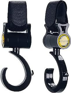 VDROL Porte-Gobelet Poussette avec 2 Crochets Porte-Biberon Universel R/églable Organisateur de Biberon Rotation /à 360 Degr/és pour V/élo Poussettes Noir Bouteilles et Gourdes