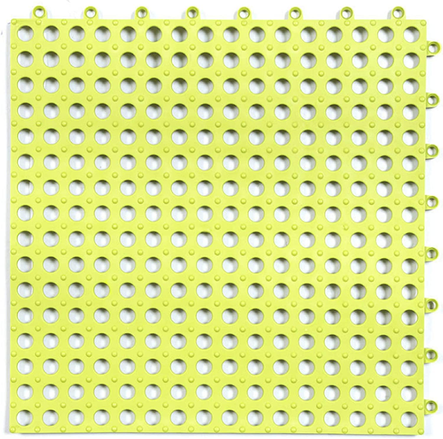 Gray for Wet Areas Like Pool Pet Area Shower Locker-Room Bathroom Deck Patio FLYYQMIAO Set of 10 Interlocking Rubber Floor Tiles with Drain Holes DIY Size PVC Drainage Floor Tiles Mat