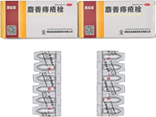 2 Boxes of Ma Ying Long Musk Hemorrhoids Ointment Suppository (6 Pieces/Box)