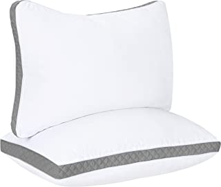 Utopia Bedding Gusseted Quilted Pillow (2-Pack) Premium Quality Bed Pillows – Side..