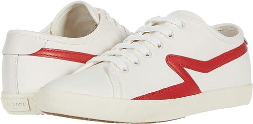 White/Fiery Red