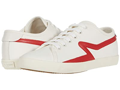 rag & bone Court Sneaker (White/Fiery Red) Women