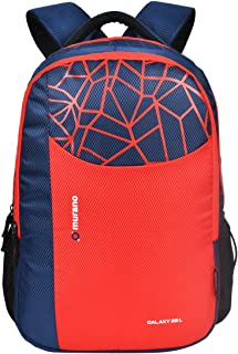 MURANO Polyester Navy Blue 29 Ltr School Backpack